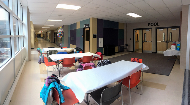 Party area at LHS Pool